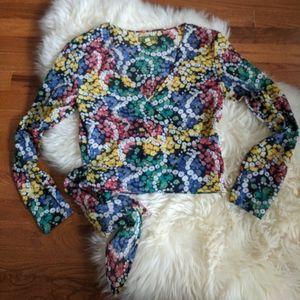 Vintage 90s esprit wrap top hippie boho floral